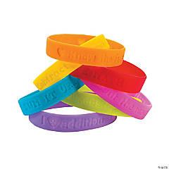 I Love Math Sayings Rubber Bracelets