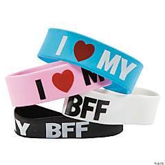 """I Love My BFF"" Big Band Bracelets"