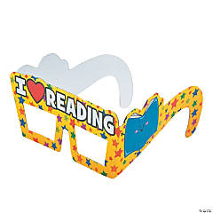 I Love Reading Paper Glasses