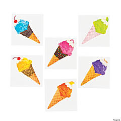 I Scream For Ice Cream Party Tattoos