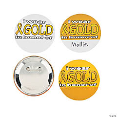 I Wear Gold In Honor Buttons