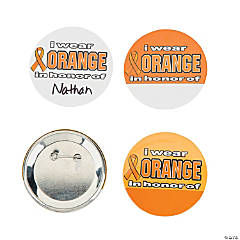 I Wear Orange In Honor Buttons
