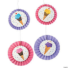 Ice Cream Party Hanging Fans