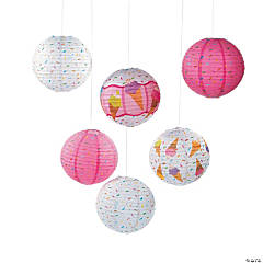Ice Cream Party Hanging Paper Lanterns