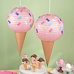 Ice Cream Party Lantern Décor Idea