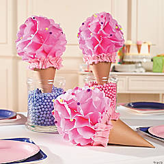 Ice Cream Tissue Centerpiece Idea