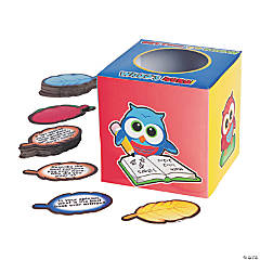 Icebreaker Owl Box and Question Card Set Brain Teasers