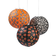 Icon Hanging Paper Lanterns Halloween Décor