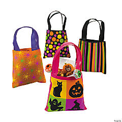 Iconic Halloween Pattern Mini Tote Bags