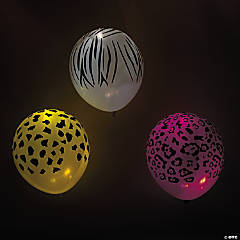 illooms® LED Balloons Wild Animal Light-Up Latex Balloons