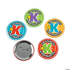 I'm Going To Kindergarten Buttons