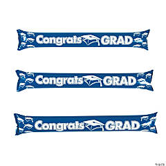 Inflatable Blue Graduation Boom Sticks