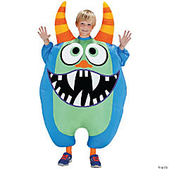 Inflatable Blue Scareblown Costume for Kids
