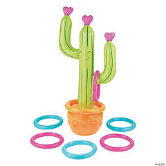 Inflatable Cactus Ring Toss Game