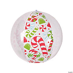 Inflatable Christmas Candy Beach Balls