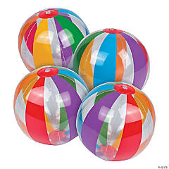 Inflatable Clear Rainbow Beach Balls