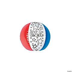 Inflatable Color Your Own Patriotic Beach Ball