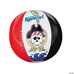 Inflatable Color Your Own Pirate Beach Balls