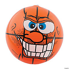 Inflatable Crazy Face Basketball Beach Ball