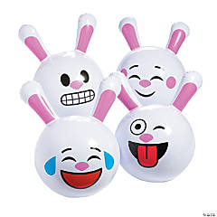 Inflatable Easter Emoji Beach Balls