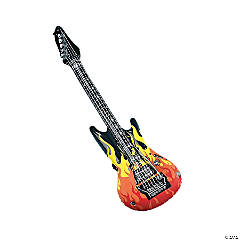 Inflatable Flames Guitars