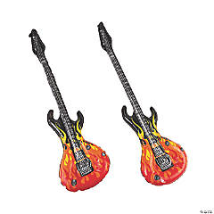 12 Inflatable Flames Guitars