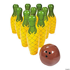 Inflatable Giant Pineapple Bowling Set