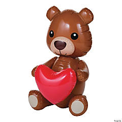 Inflatable Giant Teddy Bear with Heart