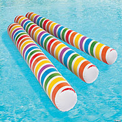 Inflatable Glow-in-the-Dark Rainbow Pool Noodles