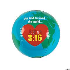 Inflatable God Loves the World Globes