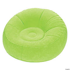 Inflatable Green Flocked Chair