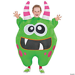 Inflatable Green Scareblown Costume for Kids