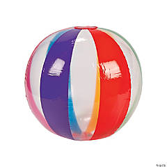 Inflatable Jumbo Clear Rainbow Beach Balls