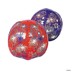 Inflatable Large Patriotic Fireworks Beach Balls