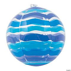 Inflatable Mini Blue Striped Beach Ball