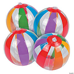 Inflatable Mini Clear Rainbow Beach Balls