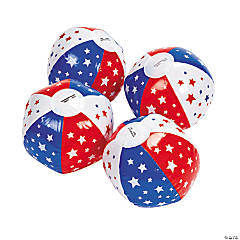 Inflatable Mini Patriotic Beach Balls