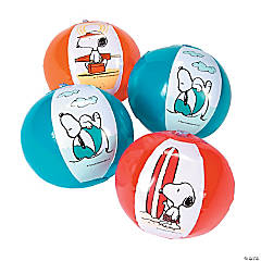Inflatable Mini Peanuts<sup>&#174;</sup> Summer Beach Balls - 12 Pc.