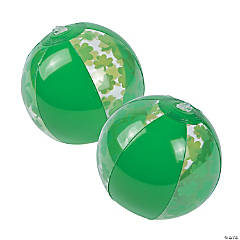 Inflatable Mini Shamrock Beach Balls