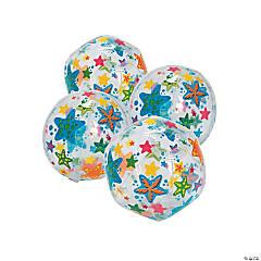 Inflatable Mini Starfish Print Beach Balls
