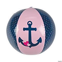 Inflatable Nautical Girl Beach Ball