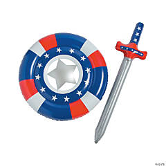 Inflatable Patriotic Shield & Sword Set