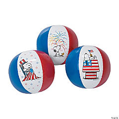 Inflatable Peanuts<sup>&#174;</sup> Patriotic Beach Balls