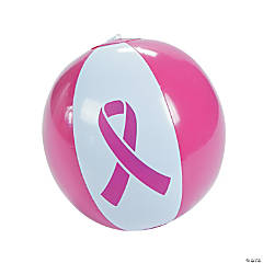 Inflatable Pink Ribbon Beach Balls