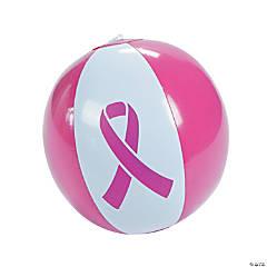 Inflatable Pink Ribbon Beach Ball