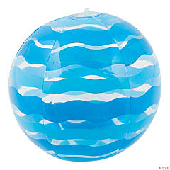 Inflatable Pink Striped Beach Ball