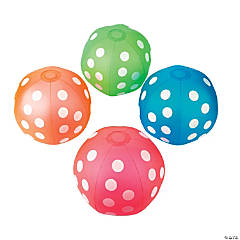 Inflatable Polka Dot Beach Balls