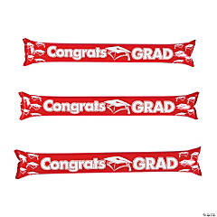 Inflatable Red Graduation Boom Sticks