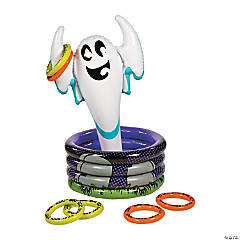 Inflatable Scary Ghost Cooler Ring Toss Game