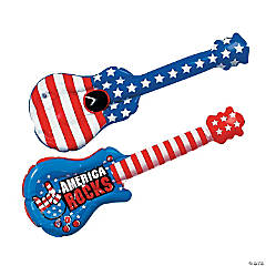 Inflatable Small Patriotic Guitars